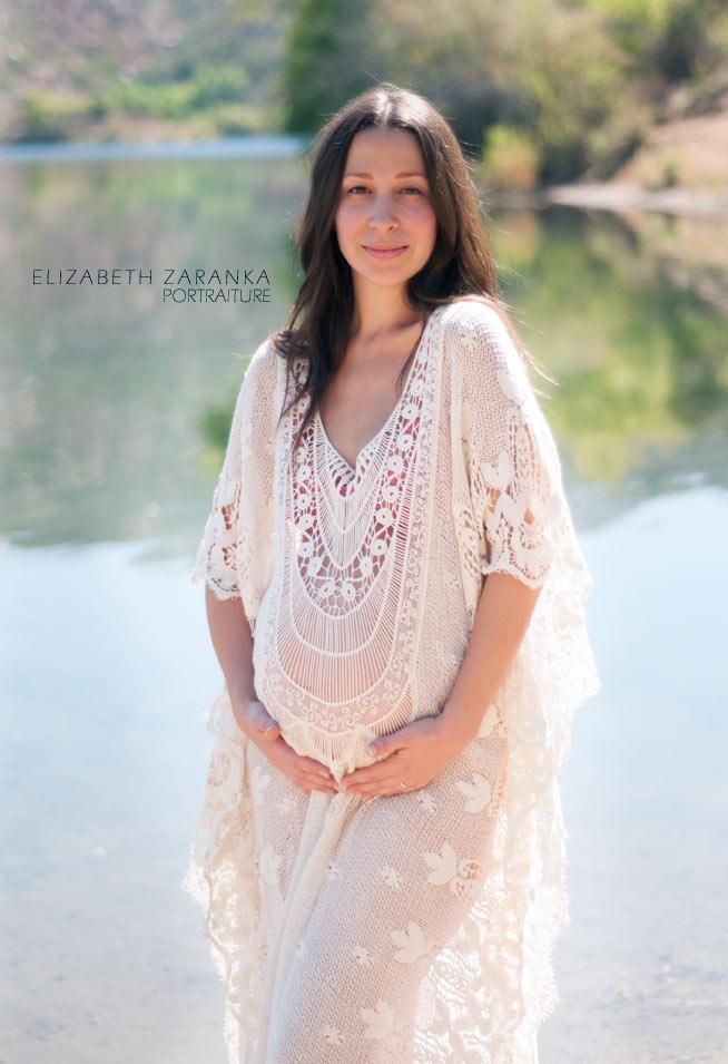 san diego maternity photo at the lake